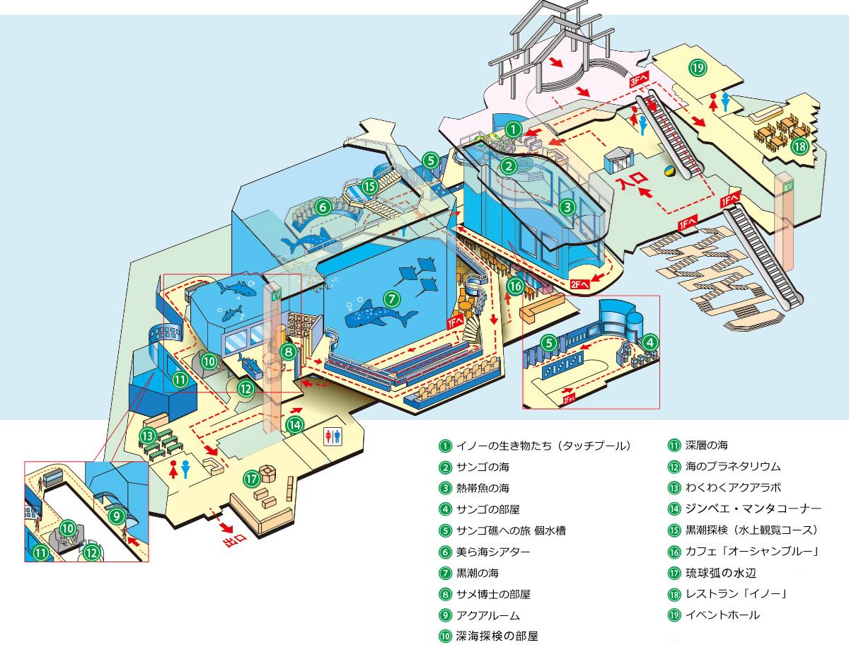 美ら海水族館全体地図